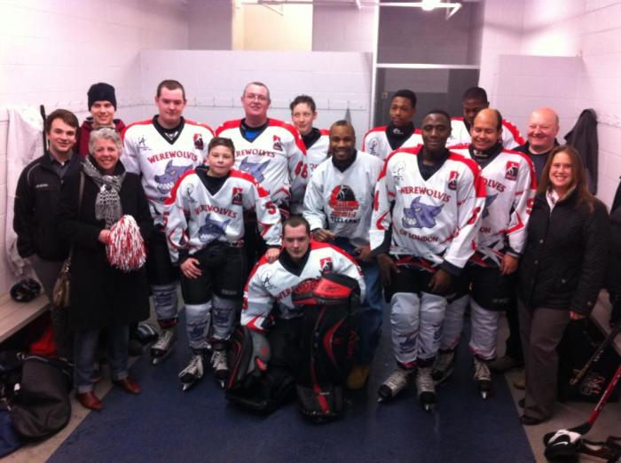 "Werewolves of London team with Fitz ""The Whip"" Vanderpool (Werewolves of London Honorary Captain)"