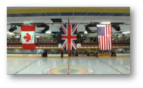 Bracknell Ice Rink with Flags