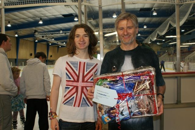Winners of the Hamper donated by Co-op Food - Father and son Steve and Steven Tree