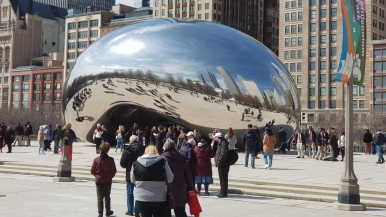 Cloud gate reflecting the Werewolves