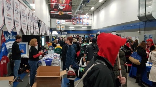Busy stalls in the rink