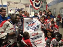 The team brought the banner home