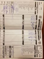 Official Gamesheet